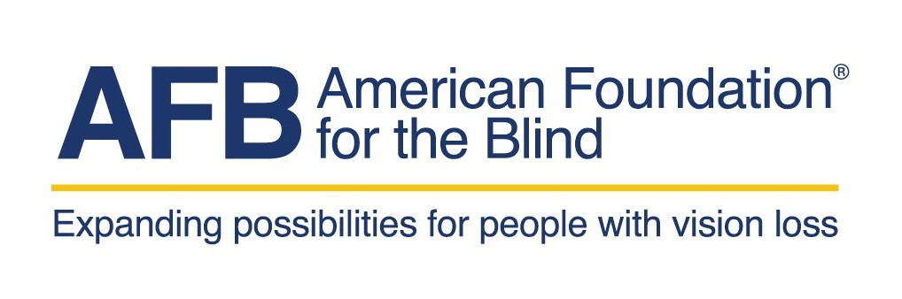 Picture with the words, AFB, American Foundation for the blind